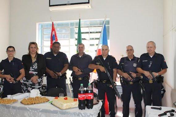 Guarda Civil Municipal recebe mais cinco pistolas e uma espingarda